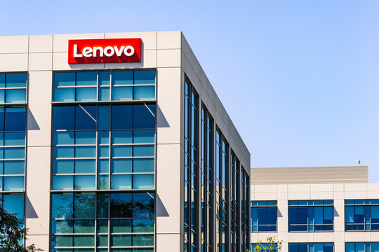 July 29, 2019 Santa Clara / CA / USA - Lenovo Group Limited headquarters located in Silicon Valley; Lenovo is a Chinese technology company with headquarters in Beijing, China
