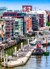 Hafen City quarter of Hamburg, Lower Saxony, Germany