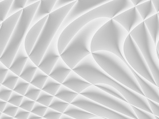 White and light grey futuristic pattern. Monochromatic design for backgrounds, templates, backdrops, surface, textile and fabric designs. 3d render illustration Wall mural
