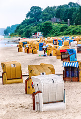 The small sandy beach of the Kiel-Schilksee, Germany