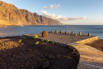 Los Gigantes cliffs (Giants Cliffs) from Punta de Teno cape, Tenerife island, Spain