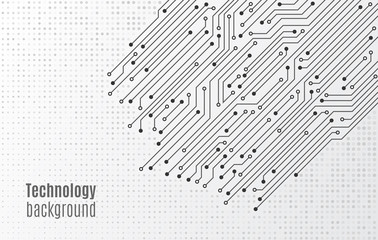 High-tech technology background texture. Circuit board minimal pattern. Science vector illustration. Abstract digital modern concept style.