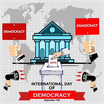 International Day of Democracy, poster vector