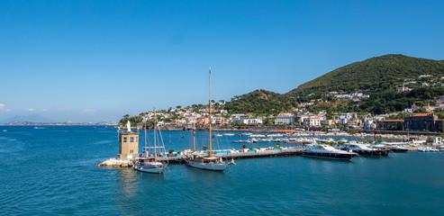 Panorama Hafen von Forio auf Ischia