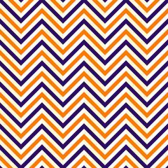 Zig Zag Orange Puple Lines Seamless Pattern