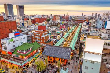 Fototapete - Asakusa, Tokyo, Japan Cityscape