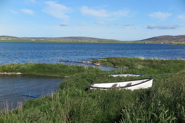 Loch of Harray am Ring of Brodgar, Orkney Inseln