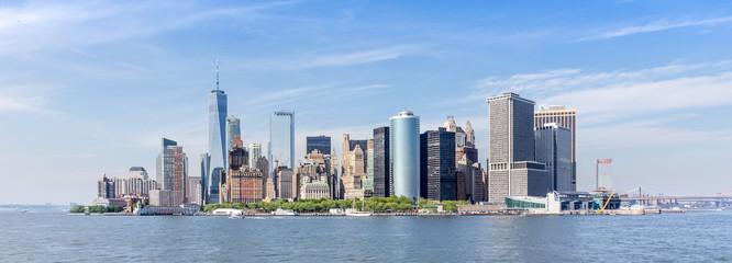 Panoramic view of Lower Manhattan, New York City, USA. Wall mural