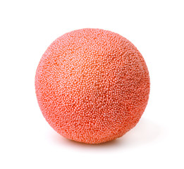 Red ball made of modelling foam