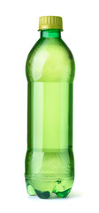 Front view of green tea bottle