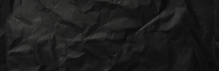 black paper texture background - banner