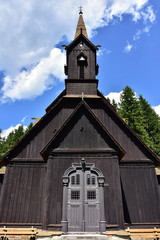 Saint Bedrich church in village Bila in Czech republic