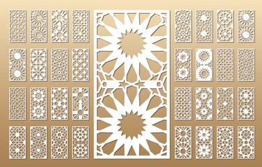 Arabic geometric panel