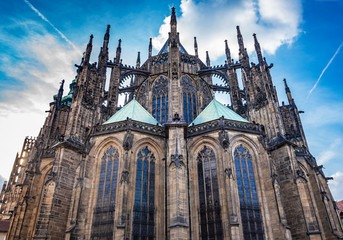 St. Vitus Cathedral in Prague Castle. Prague, Czech Republic.