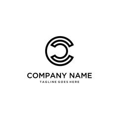 An initial C logo that looks simple and clean