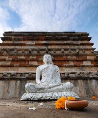 Buddha Statue at a Stupa Complex, Anuradhapura, Sri Lanka