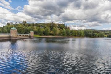 The Fuerwigge dam near Meinerzhagen in the Sauerland in Germany.
