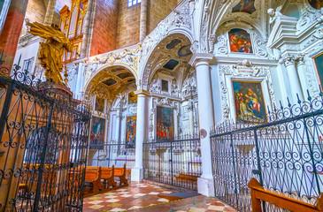 The arcaded chapels in Franciscan Church in Salzburg, Austria