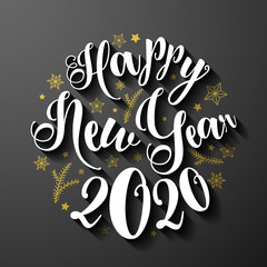 2020 Happy new year background vector card