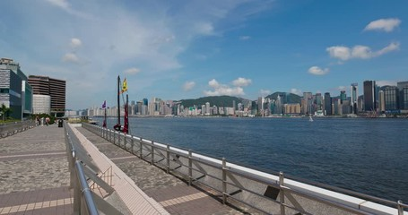 Fotomurales - Hong Kong waterfront