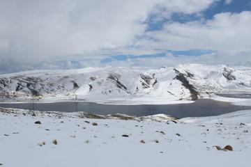 El lago en Chacaltaya Bolivia