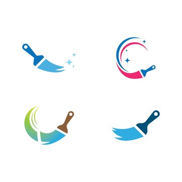 Paint logo business vector