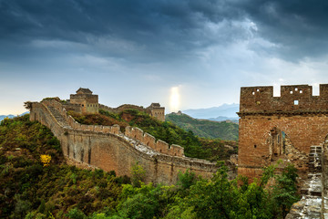 Fotobehang Chinese Muur The Great Wall of China.