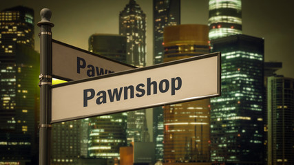 Street Sign to Pawnshop
