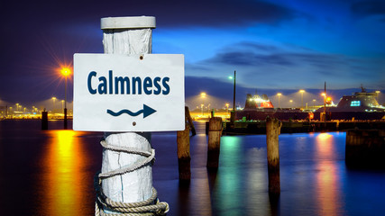 Street Sign to Calmness