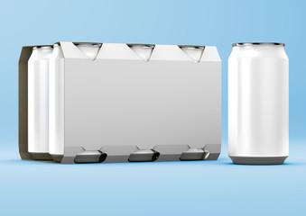 3D Render Beverage Can Packaging