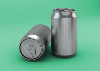 3D Render Beverage Can Packaging Hero Image
