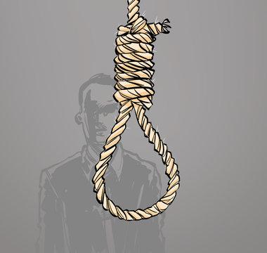 man rope suicide