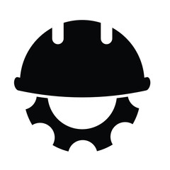 hard hat icon. working helmet icon with repair vector