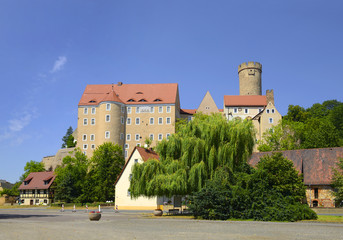 Gnandstein Castle part of the city of Kohren-Sahlis in the Leipziger Land district of Saxony, Germany. The castle is considered the best preserved fortress in Saxony.