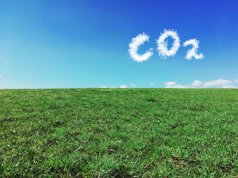 Carbon dioxide emissions control and pollution concept.