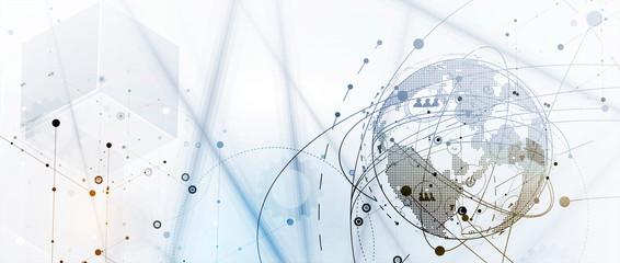Technology data background, idea of global business solution Fototapete
