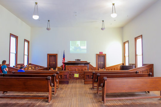 Tombstone Courthouse State Park - Courtroom