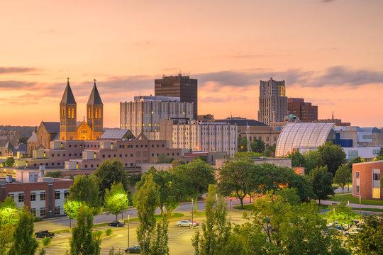 Akron, Ohio, USA Town Skyline
