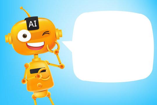 AI Robot cartoon 002