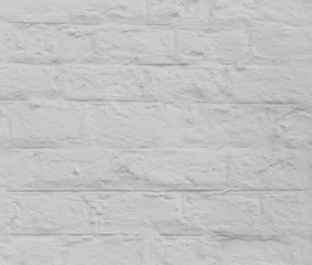 Printed roller blinds Brick wall Modern white brick wall texture as a background. Abstract backdrop