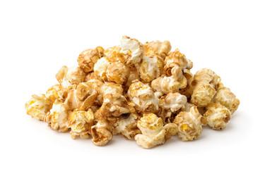 Pile of fresh caramel popcorn