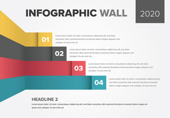 Info Chart Layout with Colorful Stripes