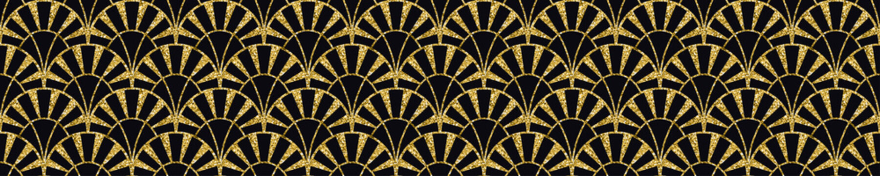 Modern tiles pattern. Abstract art deco seamless background with glitter texture