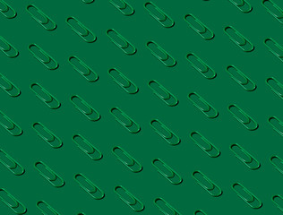 Green Paper Clip Pattern on Green