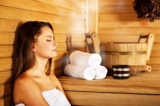 Young woman relaxing in spa.Healthcare and beauty