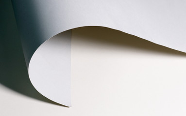 Curved paper background