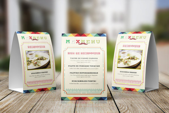 Mexican Food Table Tent Template