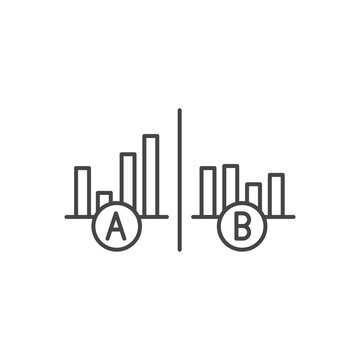 Testing, Trial, and Research Icon w A and B letters