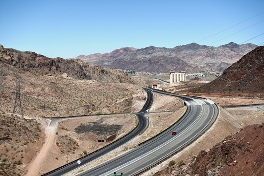 On the road to Hoover Dam