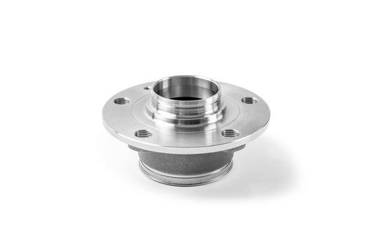 wheel hub bearing auto parts isolated on white background